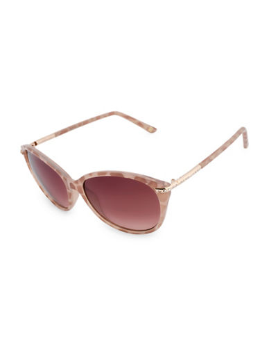 Nine West 57MM Modern Cat-Eye Sunglasses-BLUSH-One Size