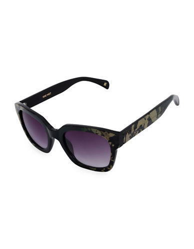 Nine West 52MM Chunky Square Sunglasses-GREEN-One Size