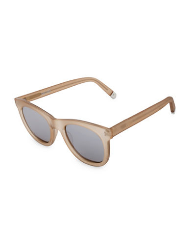 Nine West 50MM Large Round Sunglasses with Flat Lens-TAN-One Size