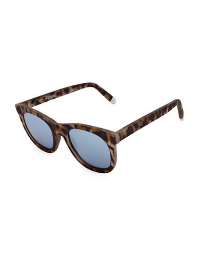 Nine West 50MM Large Round Sunglasses with Flat Lens-TORTOISE-One Size