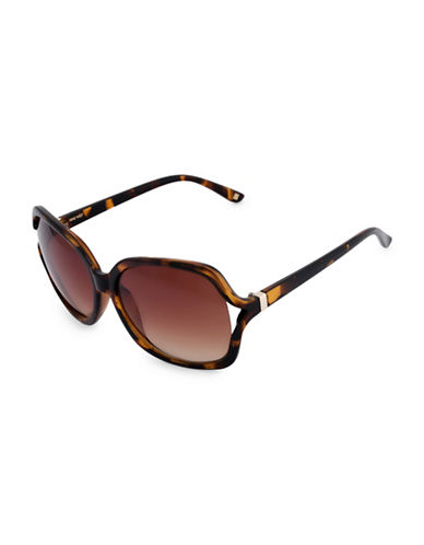 Nine West 51MM Large Square Vent Sunglasses-BROWN-One Size