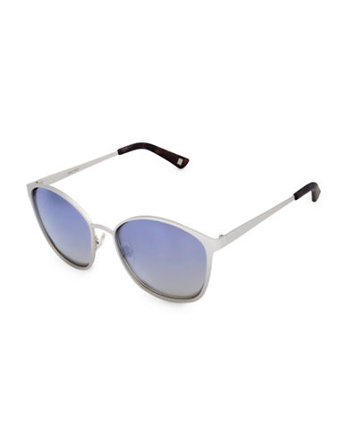 Nine West 51MM Modified Cat-Eye Sunglasses-SILVER-One Size