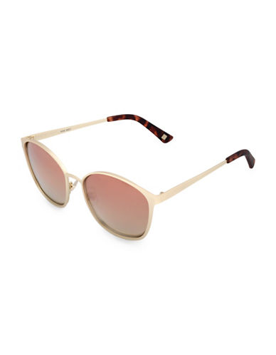 Nine West 51MM Modified Cat-Eye Sunglasses-GOLD-One Size