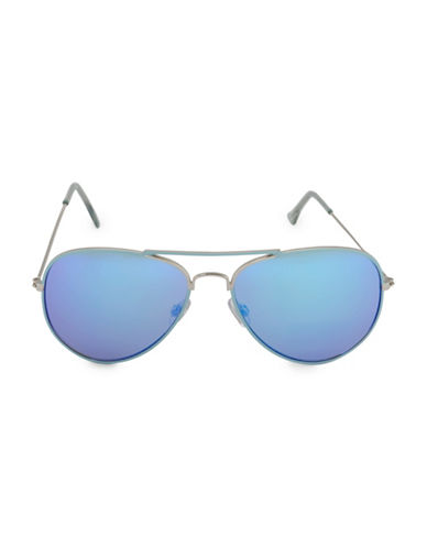 Steve Madden 59mm Painted Aviator Sunglasses-BLUE-One Size