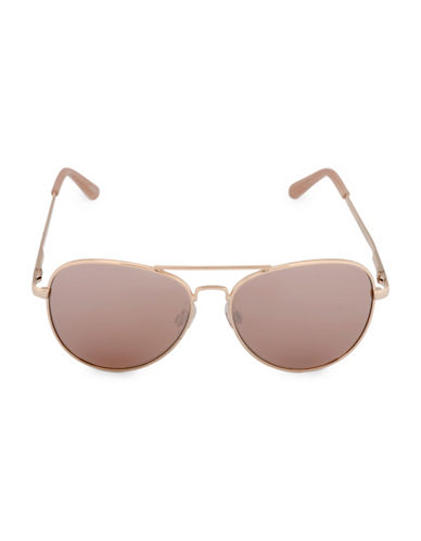 Steve Madden 58mm Metal Aviator Sunglasses-GOLD-One Size