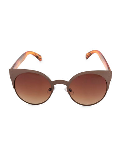 Miscellaneous 50mm Round Sunglasses-BROWN-One Size
