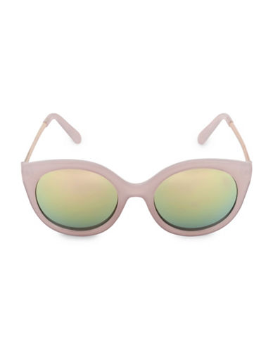 Steve Madden Glamours 53mm Oval Sunglasses-PURPLE-One Size