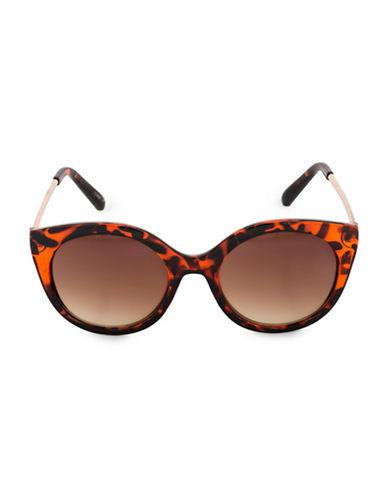 Steve Madden Glamours 53mm Tortoise Oval Sunglasses-BROWN-One Size
