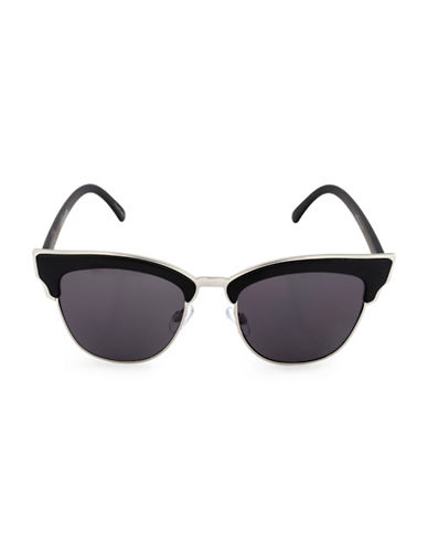 Steve Madden 55mm Soho Semi-Rimless Sunglasses-BLACK-One Size