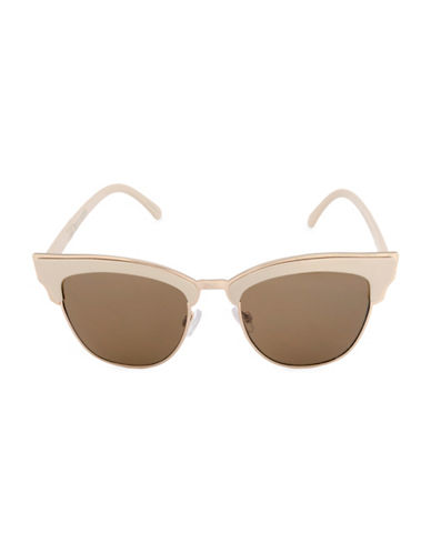Steve Madden 55mm Soho Semi-Rimless Sunglasses-BEIGE-One Size