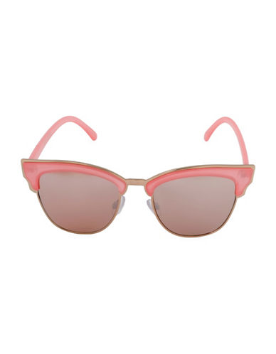 Steve Madden 55mm Soho Semi-Rimless Sunglasses-PEACH-One Size