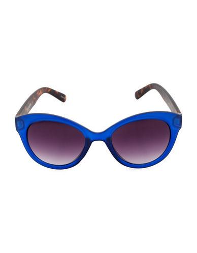 Steve Madden 52mm Modern Cat-Eye Sunglasses-BLUE-One Size