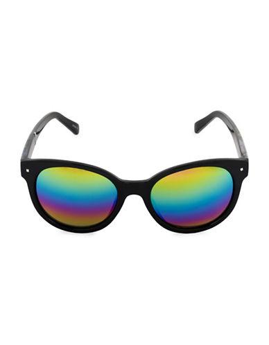 Steve Madden 52mm Classic Cat-Eye Sunglasses-BLACK-One Size