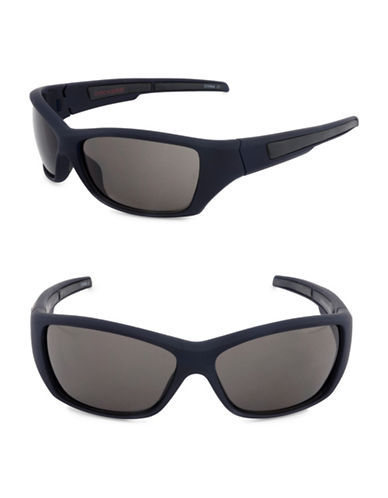Dockers Solid 62mm Wrap Sunglasses-SMOKE-One Size