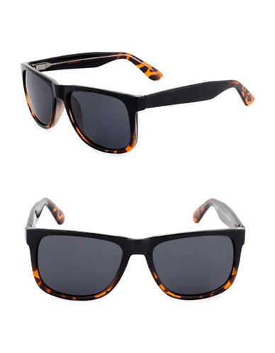 Dockers Tortoiseshell 51mm Rectangular Sunglasses-SMOKE-One Size