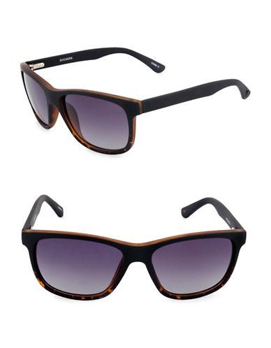 Dockers Rectangular 51mm Wayfarer Sunglasses-GREY-One Size