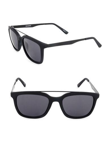 Dockers Raised Bar 50 mm Wayfarer Sunglasses-GREY-One Size