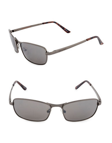 Dockers Single Bridge 57mm Sunglasses-SMOKE-One Size