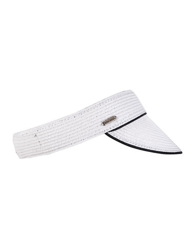 Nine West Packable Visor-WHITE-One Size