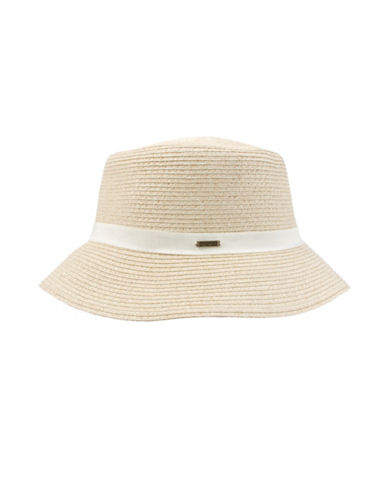 Nine West Packable Microbrim Hat-SAND-One Size