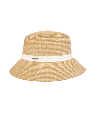 Nine West Packable Microbrim Hat-NATURAL-One Size