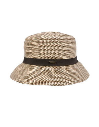 Nine West Packable Microbrim Hat-BROWN-One Size