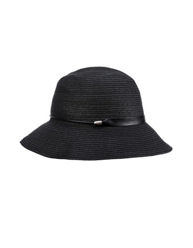 Nine West Packable Cloche Hat-BLACK-One Size