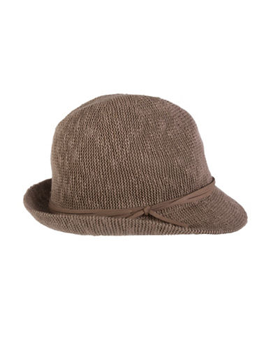 Nine West Textured Knit Fedora-PECAN-One Size