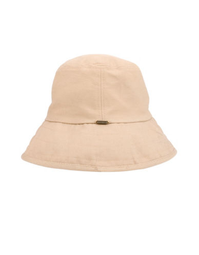 Nine West Canvas Crusher Hat-BEIGE-One Size