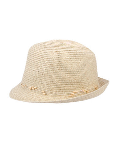 Nine West Packable Classic Fedora Hat-SAND-One Size