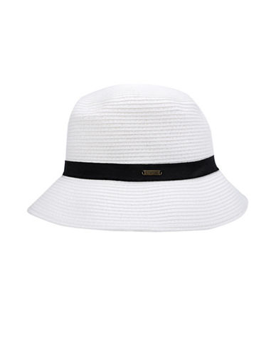 Nine West Packable Microbrim Hat-WHITE-One Size