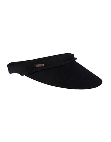 Nine West Clip-On Canvas Visor-BLACK-One Size
