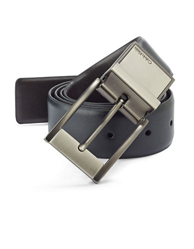 Calvin Klein Reversible Leather Dress Belt-BLACK-36