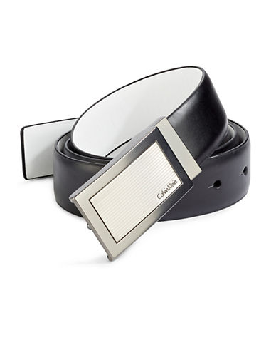 Calvin Klein Reversible Leather Dress Belt-WHITE-38