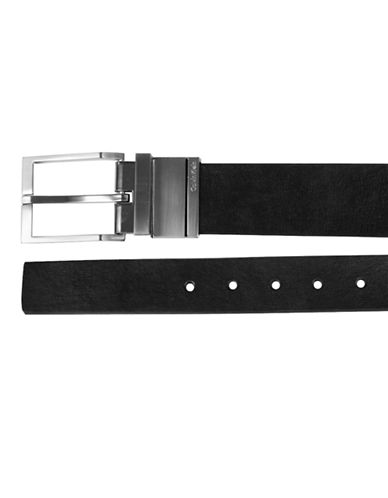 Calvin Klein Reversible Leather Dress Belt-BROWN-34