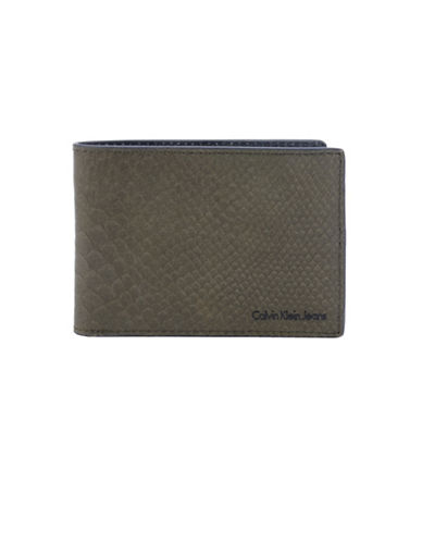 Calvin Klein Slimfold Wallet-GREEN-One Size