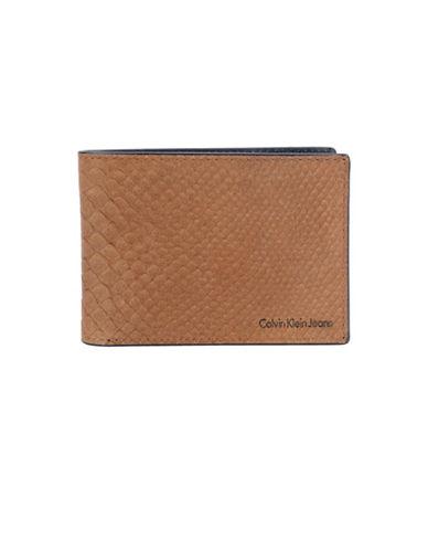 Calvin Klein Slimfold Wallet-TAN-One Size