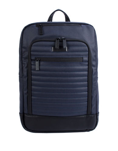 Kenneth Cole Reaction Waxed Canvas Computer Backpack-NAVY-One Size
