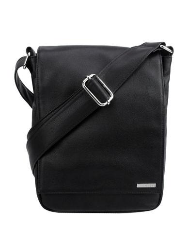 1670 Garet Fold-Over Messenger Bag-BLACK-One Size