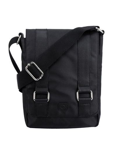 1670 Garet Textured Messenger Bag-BLACK-One Size