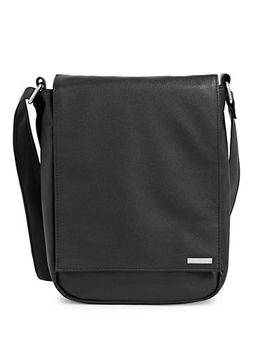 1670 Jorday Pebbled Laptop Bag-BLACK-One Size