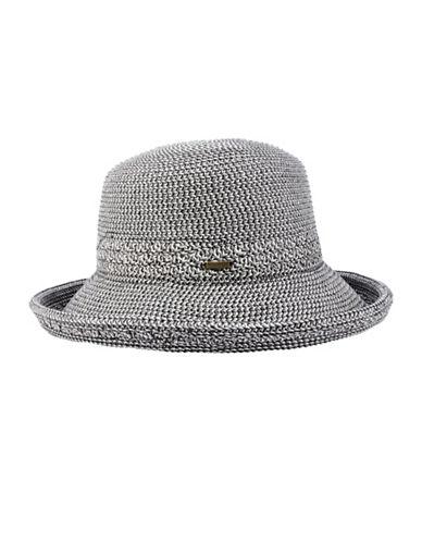 Nine West Packable Kettle Hat-BLACK-One Size