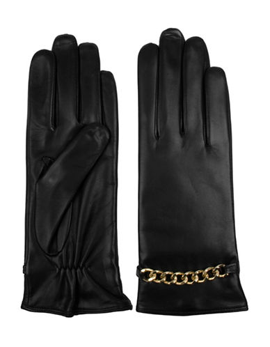 Miscellaneous Leather Gloves-BLACK-7.5