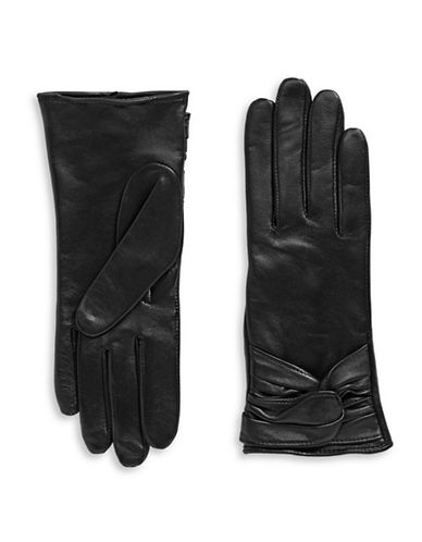 Miscellaneous Looped Leather Gloves-BLACK-7.5