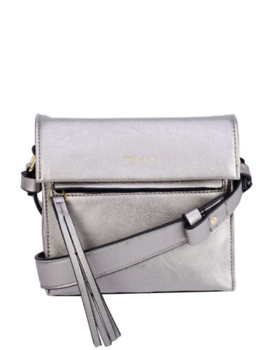 T Tahari Colette North South Crossbody Bag-PEWTER-One Size