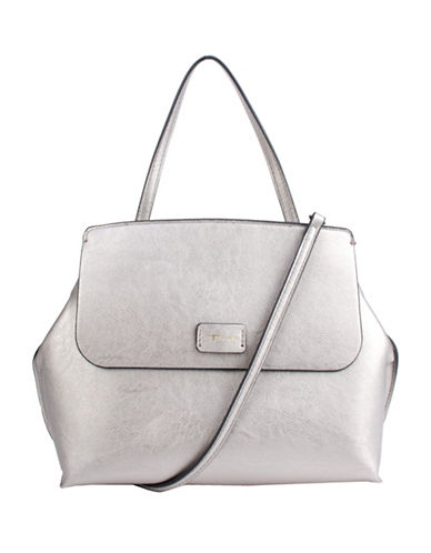 T Tahari Madison Handbag-PEWTER-One Size
