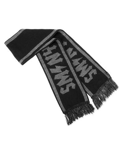 Steve Madden Stadium Scarf-BLACK-One Size