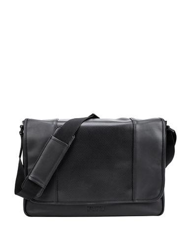 Kenneth Cole Reaction RFID-Blocking Modern Dress Performance Messenger Bag-BLACK-One Size