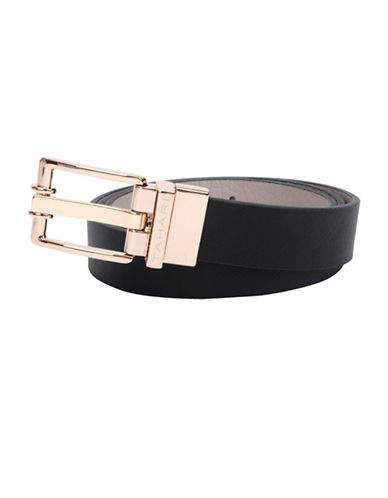 Tahari Twister Reversible Belt-BLACK-Large