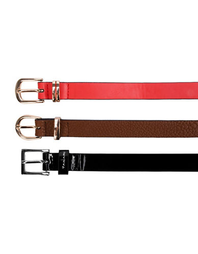 Tahari Three-Pack Triple Crown Belt Set-MUTLI-Small